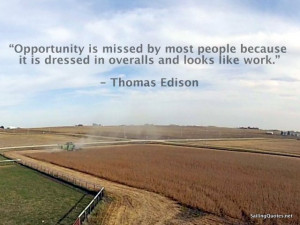 Thomas Edison Life quote, quote photo