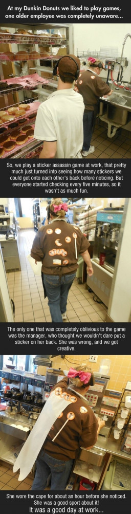 funny picture prank dunkin donuts