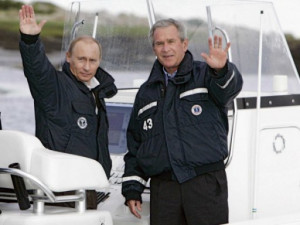 , former President George W. Bush describes how the pair hosted Putin ...