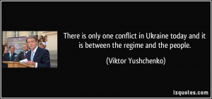 There is only one conflict in Ukraine today and it is between the ...