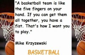 BASKETBALL IS TEAMWORK