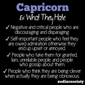 What Capricorn Hates