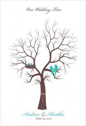 Wedding Family Tree guest book alternative by fancyprints on Etsy, $38 ...