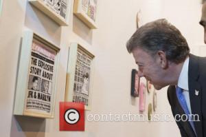 Juan Manuel Santos Colombian President Juan Manuel Santos and his