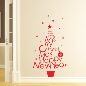 Merry-Christmas-Quotes-Wall-Sticker-Happy-New-Year-Wall-Decal-DIY ...