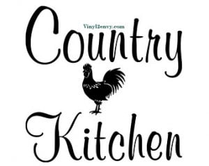 Country Kitchen Rooster - Wall Deca l - Vinyl Wall Decals, Wall Decor ...