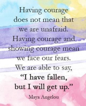 Courage means facing fears