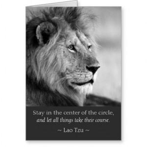 Lao Tzu Quotes Lion Animal Card