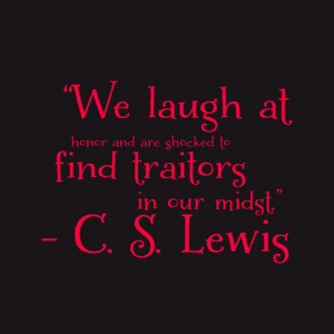 Lewis on laughing at the wrong things.