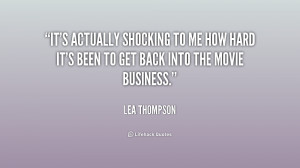Lea Thompson Quote