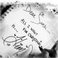 dear santa all i want for christmas is him)