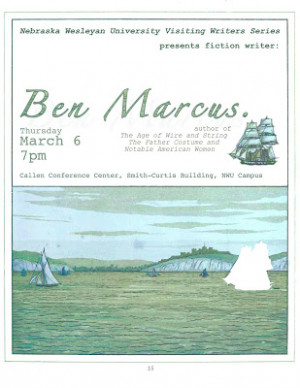 Ben Marcus: Thursday March 6, 7pm