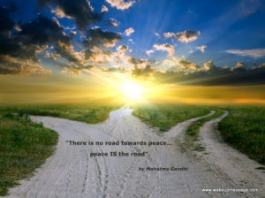 Quote by Gandhi on Peace
