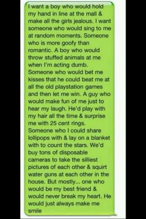 want a boy who..