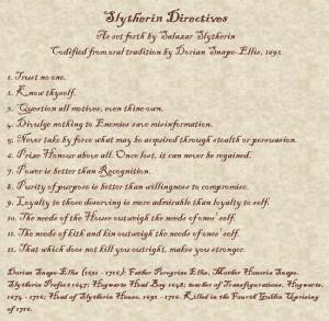 Slytherin Sayings
