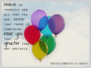 and so, this quote was discovered. thanks christian d larson for being ...