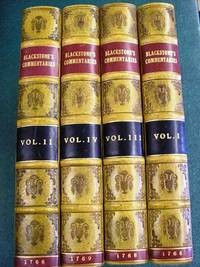 To Blackstone Sir William Mentaries On The Laws Of England Oxford