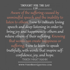 ... quotes, bring joy to others, Thich Nhat Hanh Quotes, thought for the