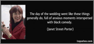 ... anxious moments interspersed with black comedy. - Janet Street-Porter