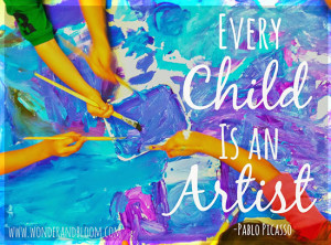 ... things , and I want to teach them time spent creating is valuable