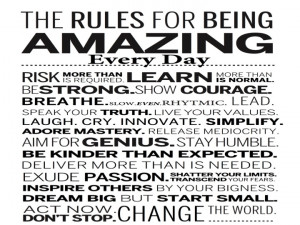 So here are my 37 ways to stop being a victim and be amazing: