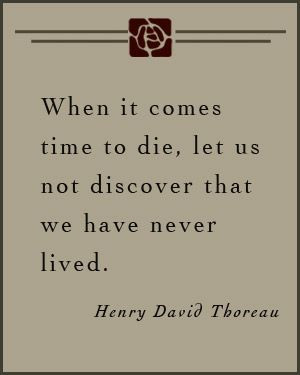 ... us not discover that we have never lived - #Henry_David_Thoreau #quote