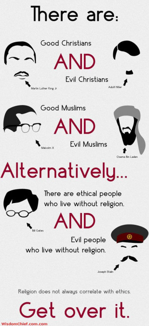 Religion And Ethics Don't Go Hand In Hand Very Nice True Quote Picture