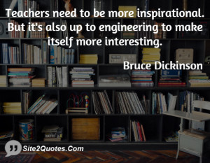 Teachers need to be more inspirational. But it's also up to ...