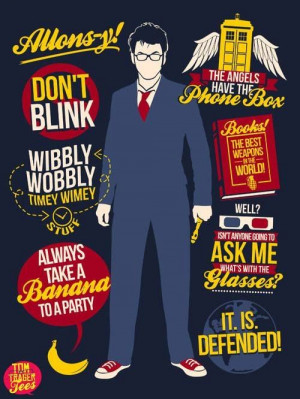 The tenth doctor artistic quotes---Always take a banana to a party was ...