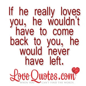 If He Really Loves You