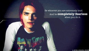 Fearless gerard way quote quotes red hair gif