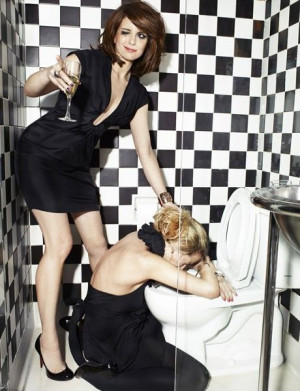 in this world to be friends with, it would be Tina Fey & Amy Poehler ...