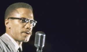 Malcolm X speaking in 1964, the year