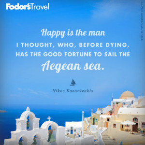 Travel Quote of the Week: On the Aegean Sea