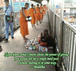 The power of giving..