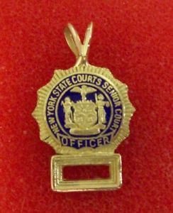 Details about NYS Senior Court Officer Mini Badge with Numbers 14K ...