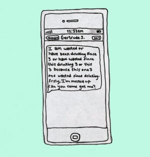 Drunk texting, When Famous Authors Get 'Wasted'