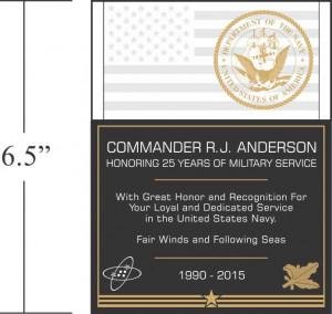 Military Retirement Plaque Wording