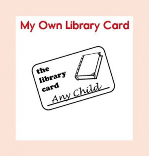 Leveled Book: My Own Library Card