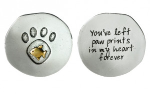 Cat Paw Print Memorial Keepsake