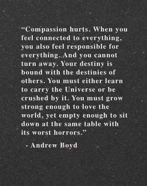 Compassion hurts- Andrew Boyd