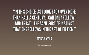 quote Mary A Ward in this choice as i look back 36139 png