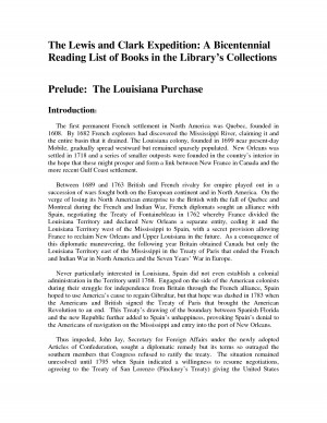 The Lewis and Clark Expedition A Bicentennial Reading List - PDF by ...