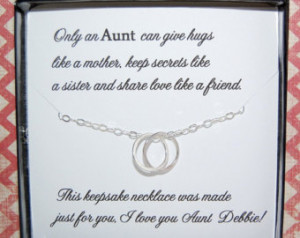 Aunt Necklace Gift...