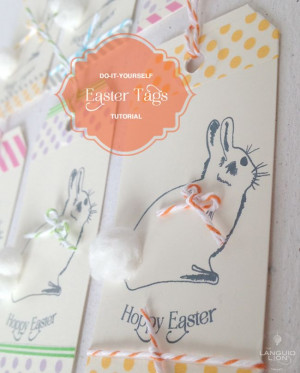 Easter Gift Tag Printable - Omiyage BlogsBunnies Gift, Easter Bunnies ...