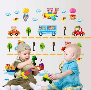 Home › Categories › Kids Art Decors › Bus tree Kids wall art ...