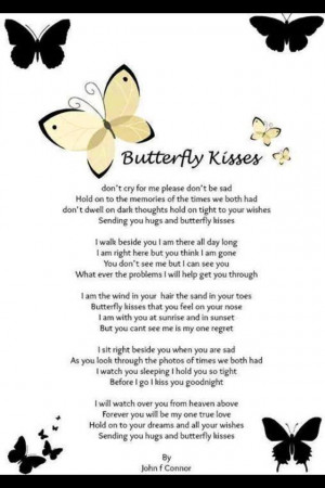 Grief, Inspiration, Poems, Quotes, Beautiful, Dads Butterflies Kisses ...