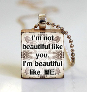 Quote Pendant Necklace Scrabble Tile Quote by pendantmadness, $7.00