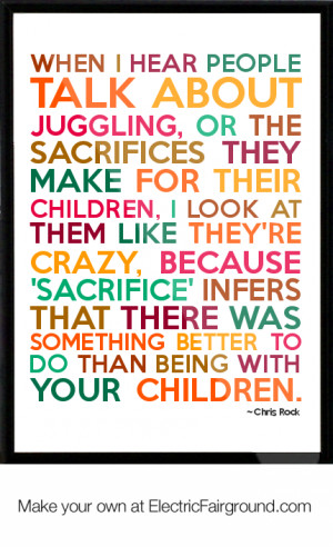 Chris Rock Framed Quote