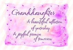 Darling Granddaughter, I Wish You